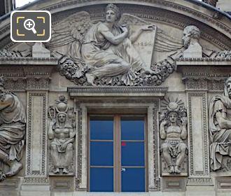 Aile Lemercier Third Floor Window With Incas Sculpture