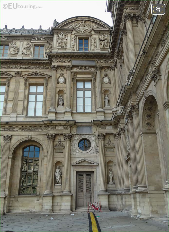 East Facade Of Aile Lemercier With Amour Sculpture
