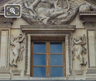 Aile Lemercier Top Window Facade With Amour Sculpture