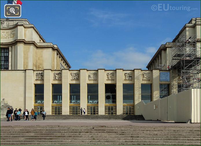 Palais De Chaillot Central Facade With The God Of Music Sculpture