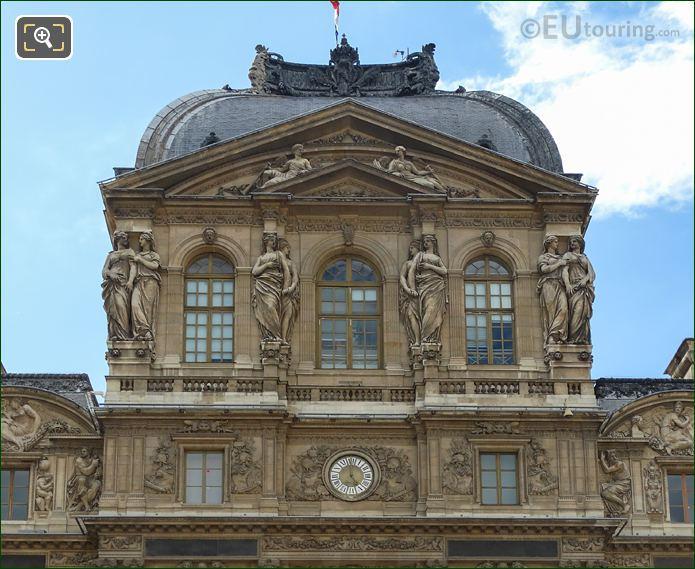 Caryatid Sculptures On Fourth Floor  Of Pavillon De l'Horloge
