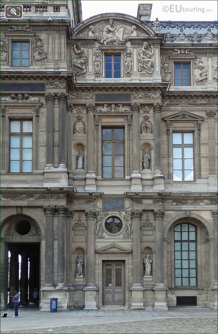 East Facade Aile Lemercier With Isis Sculpture