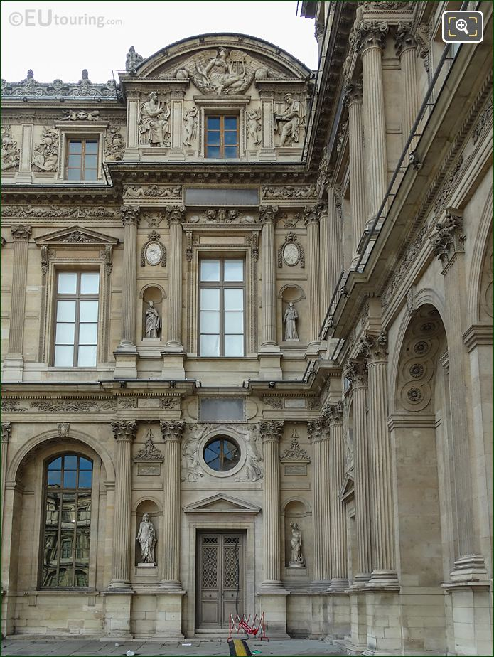 East Facade Of Aile Lemercier With Guerre Sculpture