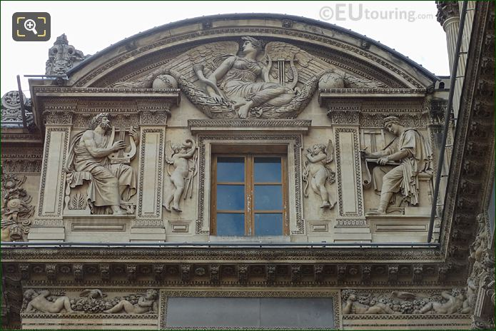Aile Lemercier Top Facade With Guerre Sculpture