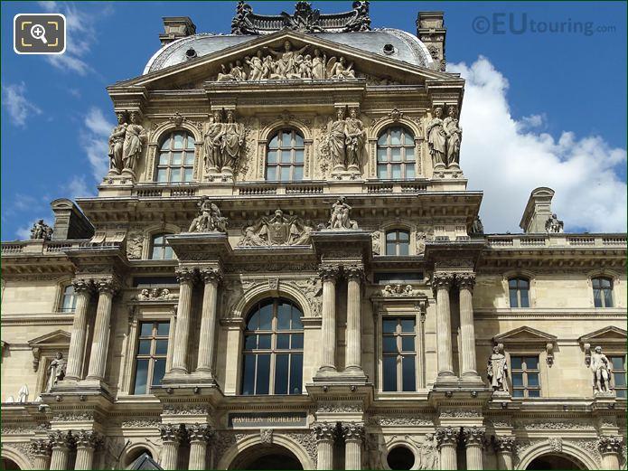 South Top Levels Pavillon Richelieu Musee Du Louvre