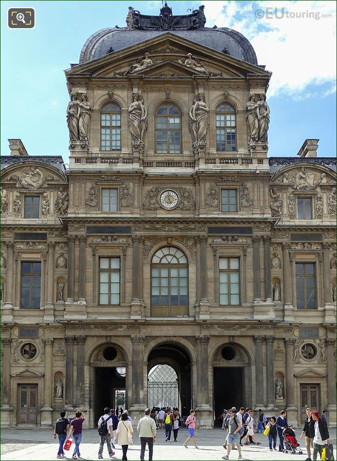 East Facade Pavillon De l'Horloge Musee Du Louvre