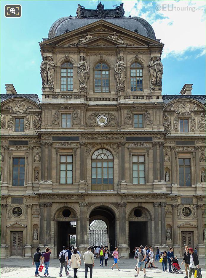 East Facade Pavillon De l'Horloge LHS Renommee Statue