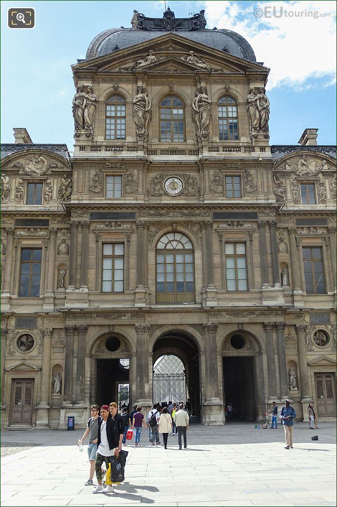 Pavillon De l'Horloge East Facade Caryatid Sculptures