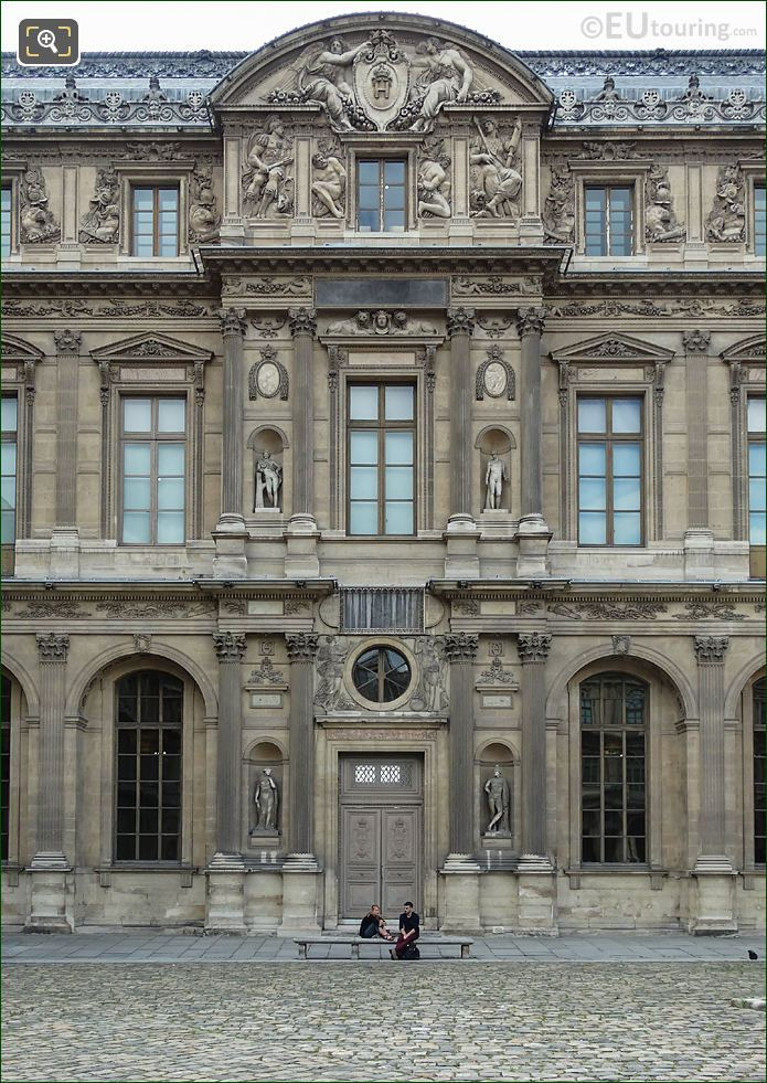 East Facade Aile Lescot Musee Louvre