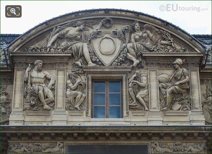 Aile Lemercier Third Floor Facade With Hercules Sculpture