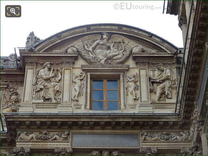 Aile Lemercier Top Facade With Homer Statue
