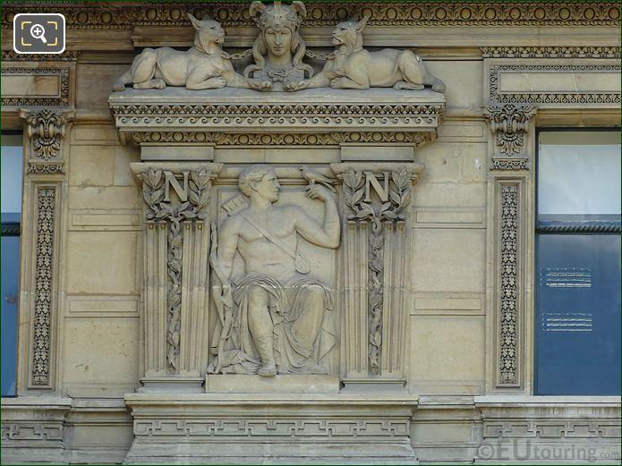 LHS Bas Relief Sculpture On Aile De Flore