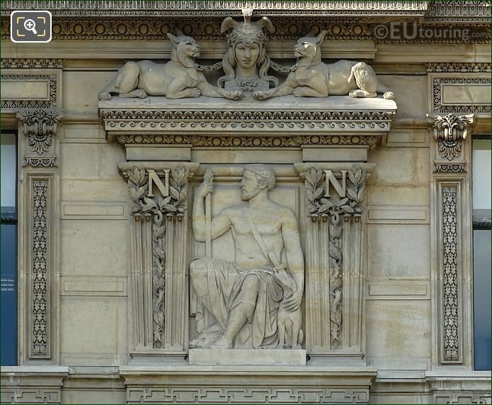 RHS Bas Relief Sculpture First Window Group Aile De Flore