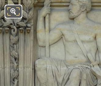 Bas Relief Sculpture By Louis Merley