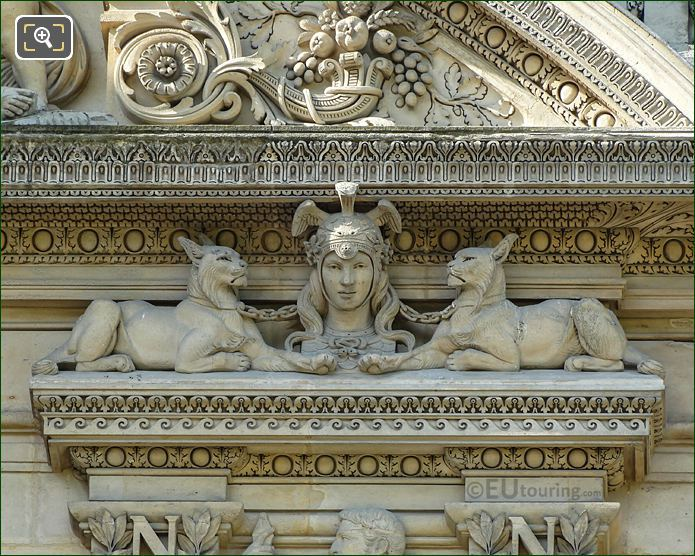 Diane Sculpture RHS 1st Window Group Aile Flore