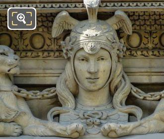 RHS 1st Window Group Diane Sculpture By Emmanuel Fremiet