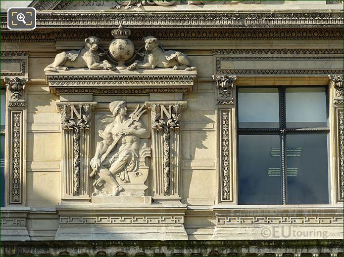 Bas Relief Sculpture 2nd Window Group LHS Aile De Flore
