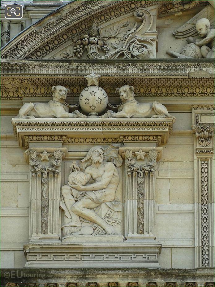 Aile De Marsan Second Window LHS Bas Relief Sculpture At The Louvre
