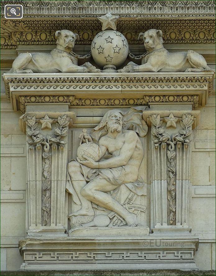 Aile De Marsan Second Window Left Hand Side Bas Relief Sculpture