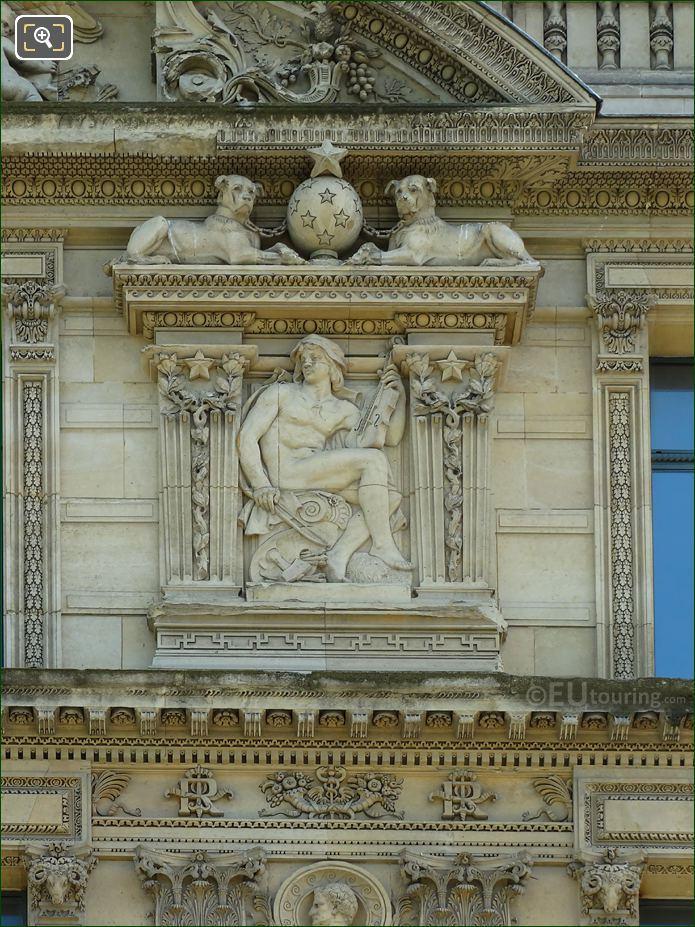 Aile De Marsan 2nd Window RHS Bas Relief Sculpture