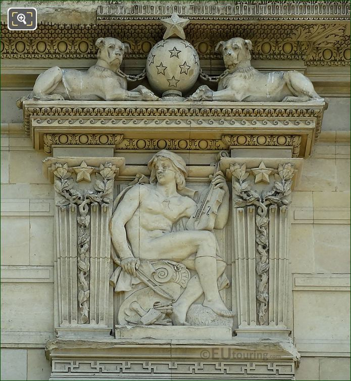 2nd Window Aile De Marsan Right Hand Side Bas Relief Sculpture At The Louvre