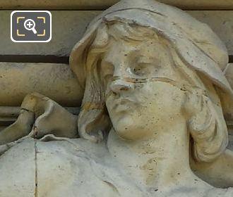 2nd Window Bas Relief Sculpture By Artist Pierre Jules Cavelier