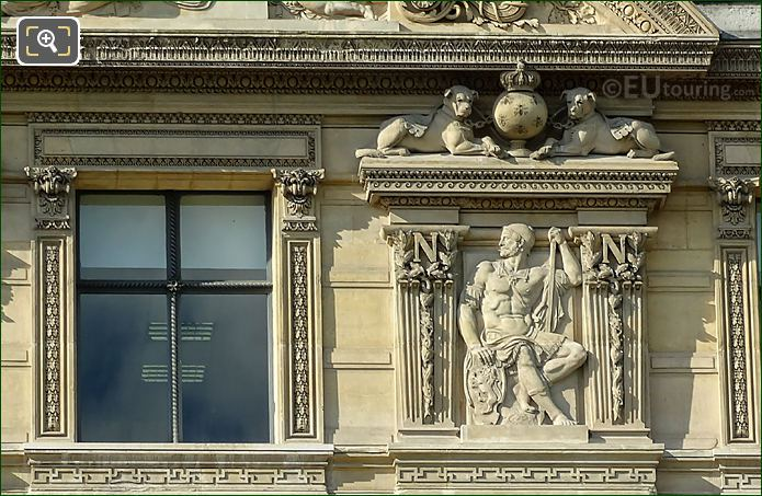 RHS Bas Relief Sculpture 2nd Window Aile De Flore