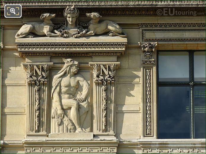 3rd Window LHS Bas Relief Sculpture Aile Flore