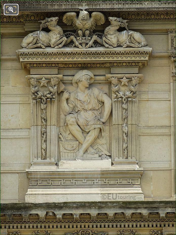 Third Window Left Hand Side Sculpture La Maconnerie On Aile De Marsan