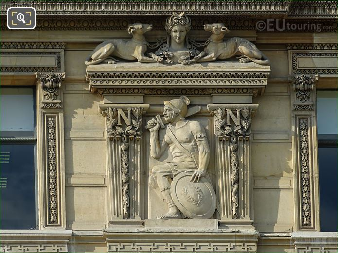 Third Window Right Hand Side Europe Sculpture On Aile De Flore