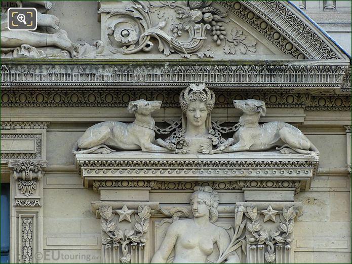 Right Hand Side Groupe d'Animaux Sculpture Aile De Flore Third Window Group