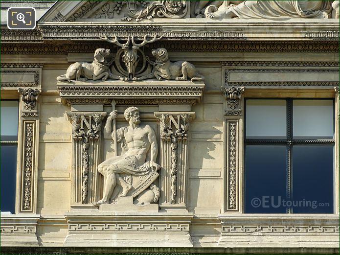 Fourth Window Left Hand Side Bas Relief Sculpture On Aile De Flore