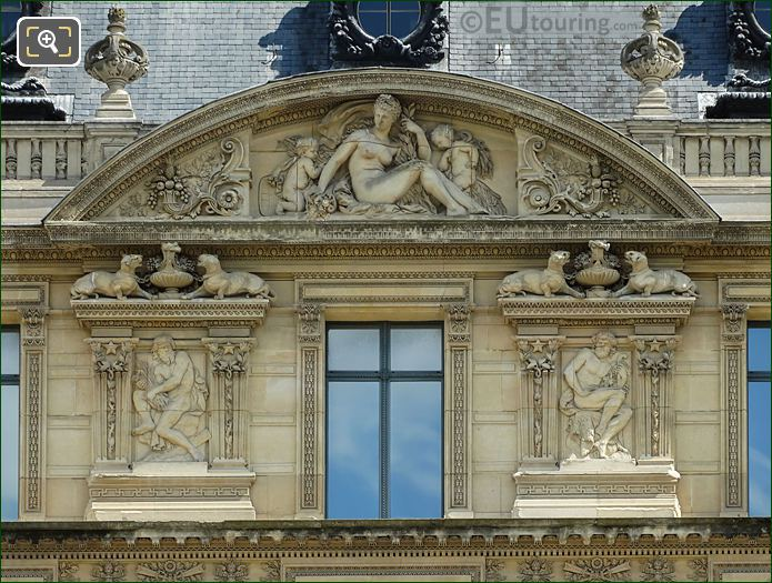 Bas Relief Sculptures Around Fourth Window Group On Aile De Marsan