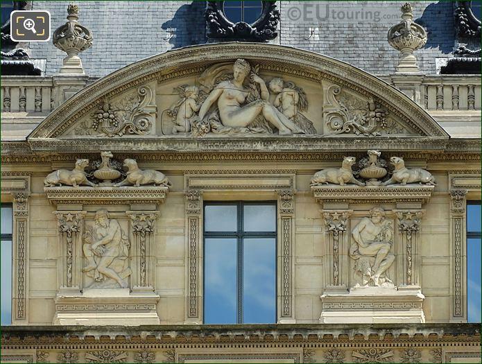 Bas Relief Sculptures Around Fourth Window Group On Aile De Marsan