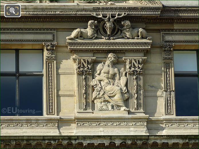 Fourth Window Right Hand Side Bas Relief Sculpture On Aile De Flore