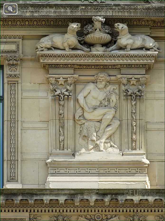 Fourth Window Right Hand Side Bas Relief Sculpture On Aile De Marsan