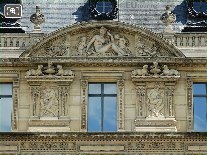 Aile De Marsan Fourth Window Facade With Bas Relief Sculptures