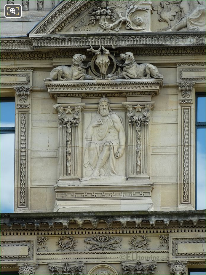 Fifth Window Left Hand Side Charlemagne Sculpture On Aile De Marsan