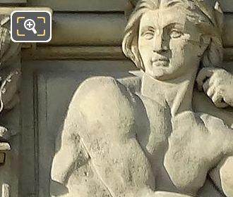 Right Hand Side Fleuves Sculpture By Sculptor Eugene Delaplanche