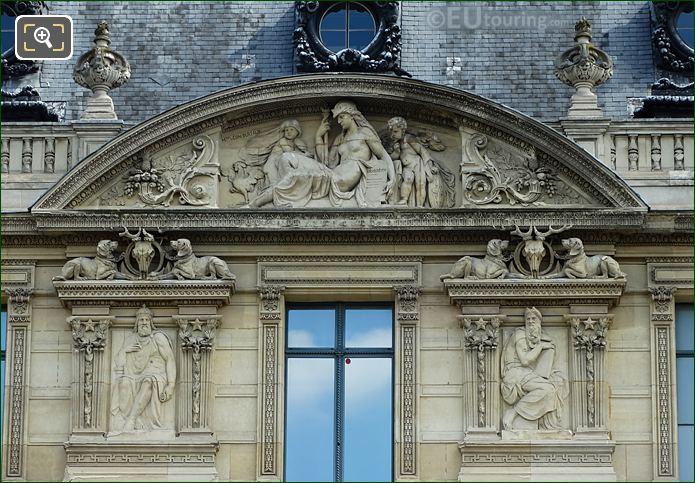 Aile De Marsan Firth Window Sculptures On Musee Du Louvre