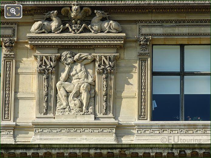 Sixth Window Left Hand Side Bas Relief Sculpture On Aile De Flore