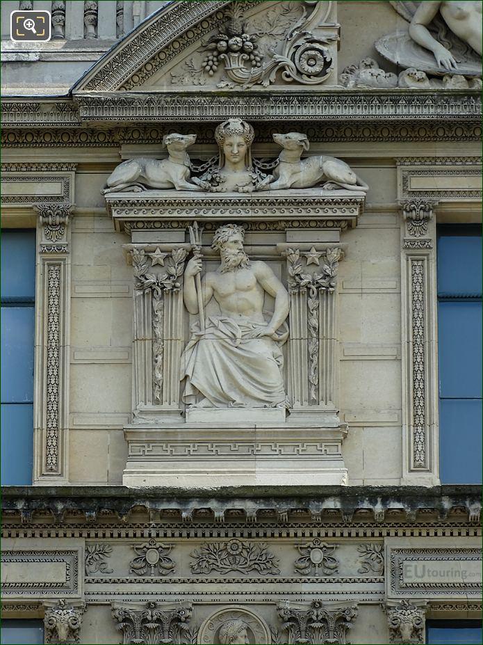 Aile De Marsan Sixth Window Left Hand Side Bas Relief Sculpture
