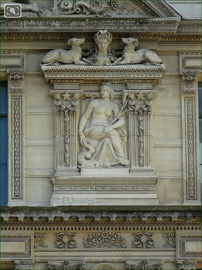 Aile De Marsan 6th Window Right Hand Side Bas Relief Sculpture At The Louvre