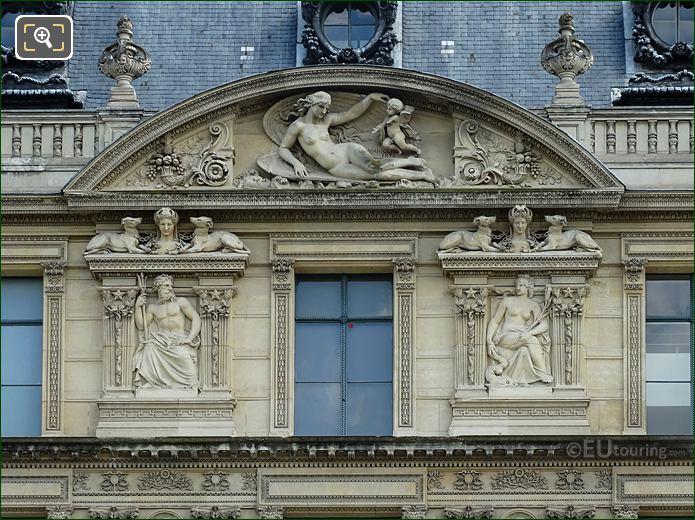 Aile De Marsan Sixth Window Bas Relief Sculptures On The Louvre