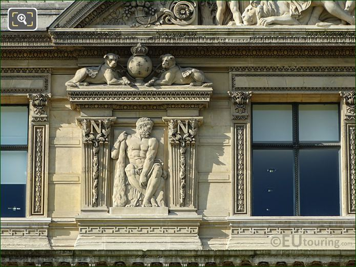 Aile De Flore Seventh Window Left Hand Side Bas Relief Sculpture