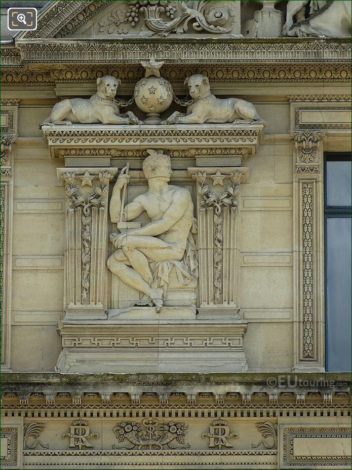 Aile De Marsan 7th window Left Hand Side Bas Relief Sculpture