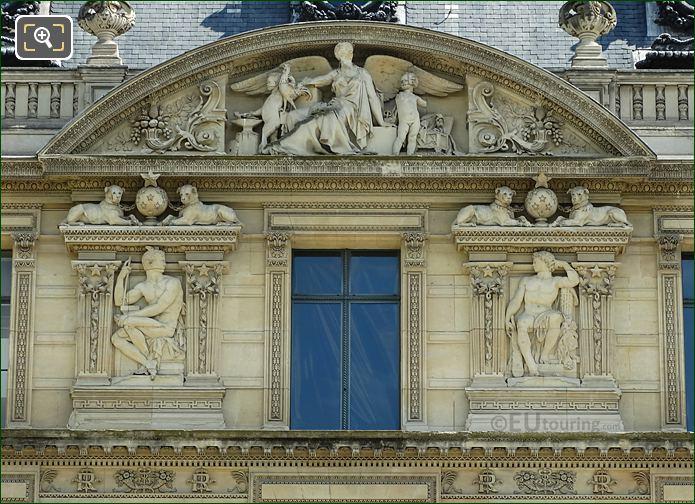Aile De Marsan Seventh Window Bas Relief Sculptures