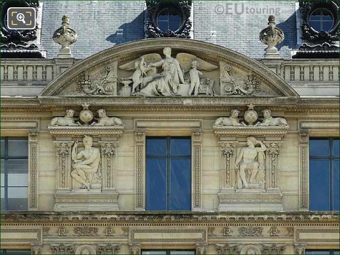 Aile De Marsan Seventh Window Facade With Bas Relief Sculptures