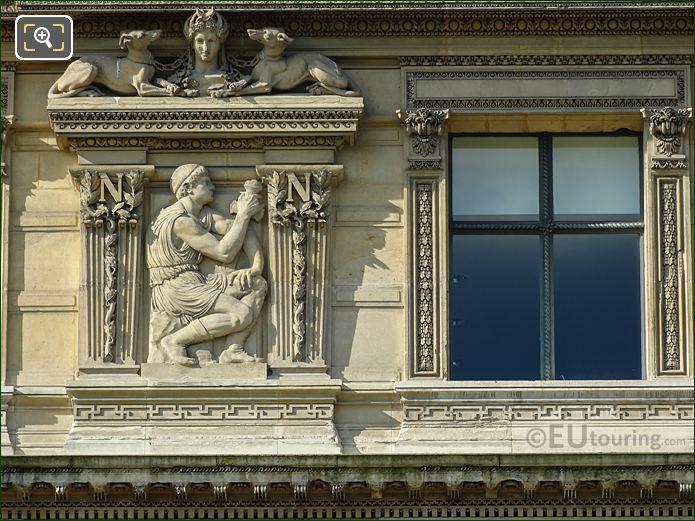 Eighth Window Left Hand Side La Vigilance Sculpture On Aile De Flore