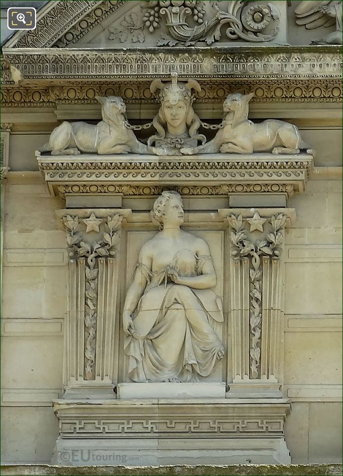Eighth Window Left Hand Side Paix Bas Relief Sculpture On Aile De Marsan
